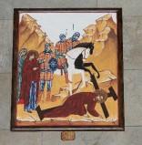 Ambito italiano sec. XXI, Dipinto di Gesù che cade la seconda volta
