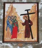 Ambito italiano sec. XXI, Dipinto di Gesù che consola le pie donne