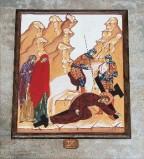Ambito italiano sec. XXI, Dipinto di Gesù che cade la terza volta