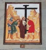 Ambito italiano sec. XXI, Dipinto di Gesù spogliato delle vesti