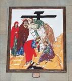 Ambito italiano sec. XXI, Dipinto di Gesù deposto dalla croce