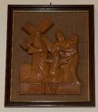Ambito toscano sec. XX, Bassorilievo di Gesù che incontra la Madonna