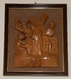 Ambito toscano sec. XX, Bassorilievo di Gesù asciugato dalla Veronica