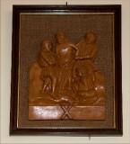 Ambito toscano sec. XX, Bassorilievo di Gesù spogliato delle vesti