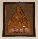 Ambito toscano sec. XX, Bassorilievo di Gesù deposto dalla croce