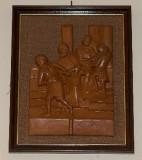 Ambito toscano sec. XX, Bassorilievo di Gesù condannato a morte