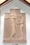 Ambito italiano sec. XX, Formella di Gesù caricato della croce