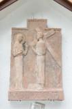Ambito italiano sec. XX, Formella di Gesù che incontra la Madonna
