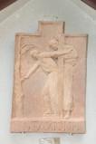 Ambito italiano sec. XX, Formella di Gesù aiutato dal cireneo