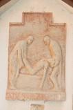 Ambito italiano sec. XX, Formella di Gesù deposto nel sepolcro