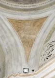 Ademollo L. sec. XIX, Dipinto murale di angelo con vassoio porta-ampolle