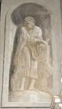 Ademollo L. sec. XIX, Affresco monocromo di San Luca Evangelista