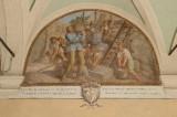 Ademollo L. (1833), Dipinto murale di San Francesco che restaura la Porziuncola