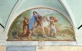 Ademollo L. (1833), Dipinto murale di San Francesco dona il mantello al povero