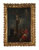 Bottega toscana sec. XIX, Cornice dipinto della Crocifissione con santi