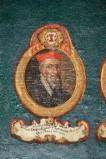 Ambito laziale sec. XVIII-XIX, Dipinto murale con cardinale Bertrandus