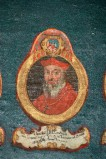Ambito laziale sec. XVIII-XIX, Dipinto murale con cardinale Hanibal