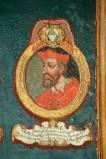 Ambito laziale sec. XVIII-XIX, Dipinto murale con cardinale Angelus