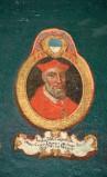 Ambito laziale sec. XVIII-XIX, Dipinto murale con cardinale Iacobus