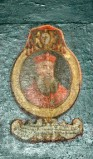 Ambito laziale sec. XVIII-XIX, Dipinto murale con cardinale Iulianus