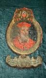 Ambito laziale sec. XVIII-XIX, Dipinto murale con cardinale Gregorius