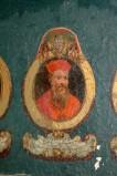 Ambito laziale sec. XVIII-XIX, Dipinto murale con cardinale Alexander