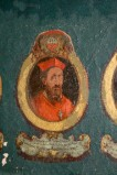 Ambito laziale sec. XVIII-XIX, Dipinto murale con cardinale Antonius