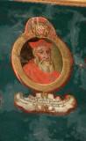 Ambito laziale sec. XVIII-XIX, Dipinto murale con cardinale Ion Antonius