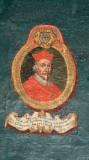 Ambito laziale sec. XVIII-XIX, Dipinto murale con cardinale Ioa Garria