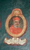 Ambito laziale sec. XVIII-XIX, Dipinto murale con cardinale Virginius