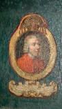 Ambito laziale sec. XVIII-XIX, Dipinto murale con cardinale Henricus