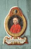 Ambito laziale sec. XIX, Dipinto murale con cardinale Emmanuel