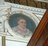 Galimberti S. sec. XX, Dipinto murale con cardinale Giovanni De Groso