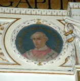 Galimberti S. sec. XX, Dipinto murale con cardinale Raimondo De Conillac