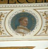 Galimberti S. sec. XX, Dipinto murale con cardinale Stefano