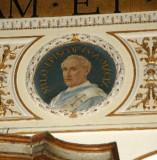 Galimberti S. sec. XX, Dipinto murale con cardinale Milo