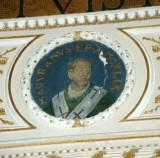 Galimberti S. sec. XX, Dipinto murale con cardinale Majorano