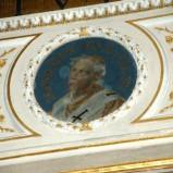 Galimberti S. sec. XX, Dipinto murale con cardinale Gennaro