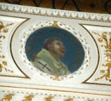 Galimberti S. sec. XX, Dipinto murale con cardinale Romano
