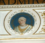 Galimberti S. sec. XX, Dipinto murale con cardinale Teofilatto