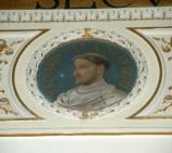 Galimberti S. sec. XX, Dipinto murale con cardinale Mainardo
