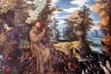 Bott. laziale (1612 circa), San Francesco predica agli uccelli