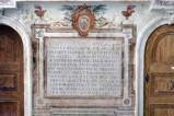 Bott. laziale (1616), Epigrafe con iscrizione Felice Felici con IHS dipinto