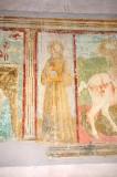 Lorenzo da Viterbo sec. XV, Dipinto murale con San Bernardino
