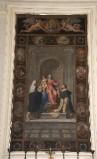 Berrettini V. sec. XIX, Dipinto con Madonna del rosario e santi domenicani