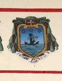 Ambito laziale sec. XX, Dipinto con stemma del vescovo Simeoni