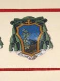 Ambito laziale sec. XX, Dipinto con stemma del vescovo Basilici