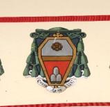 Ambito laziale sec. XX, Dipinto con stemma del vescovo Lenti