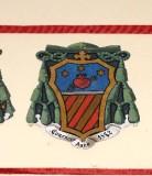 Ambito laziale sec. XX, Dipinto con stemma del vescovo Costantini