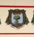 Ambito laziale sec. XX, Dipinto con stemma del vescovo Mattei